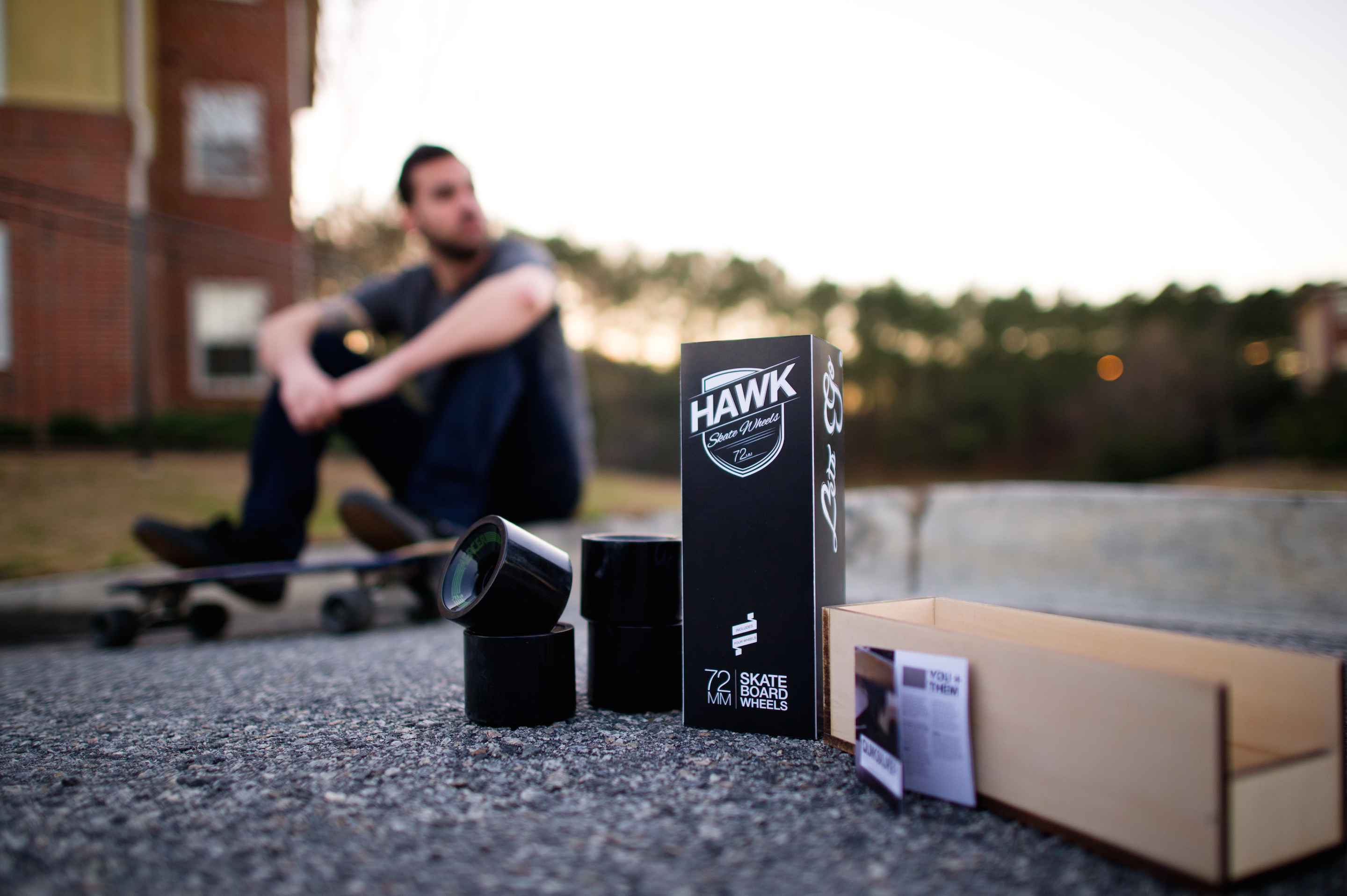 The experience doesn't end after purchase, every element of the packaging creates a story which surpasses just skateboarding. This handcrafted box and packaging is interactive with augmented reality.